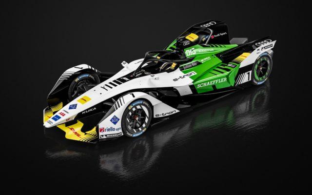 Next generation Audi Formula E car, the e-tron FE05.  [Photo by Audi Motorsport]