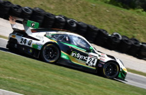 Michael Christensen captured Round 2 at Road America in the Pirelli World Challenge races. [John Wiedemann Photo]