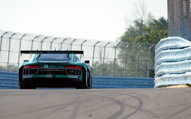 Audi heading down the straight.  [Photo by Jack Webster]