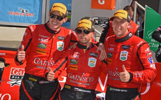 Winning team of Stephen Simpson, Misha Goikhberg and Chris Miller. [Joe Jennings Photo]