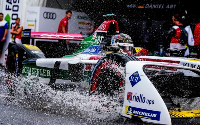 Rain shower on Sunday morning.  [Photo by Audi Sport]