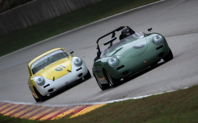 George F. Balbach, 1960 Porsche,  James Jackson, 1964 Porsche  [Ty Jensen Photo]