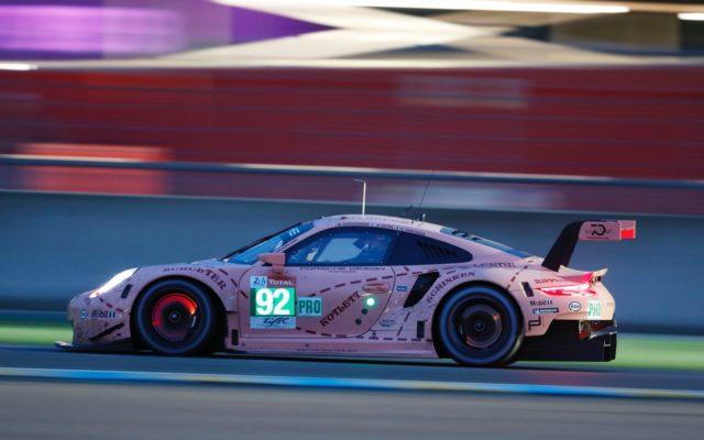 "Le Mans class winning ""Pink Pig""  [Photo by Porsche Motorsport]"