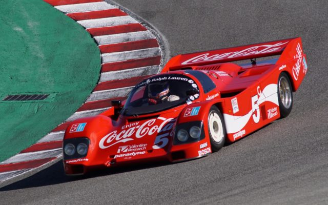Porsche 962 in the Corkscrew.  [Photo by Jack Webster]