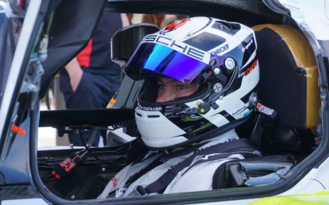 Timo Bernhard waits his turn at the wheel of the 919 Tribute.  [Photo by Jack Webster]
