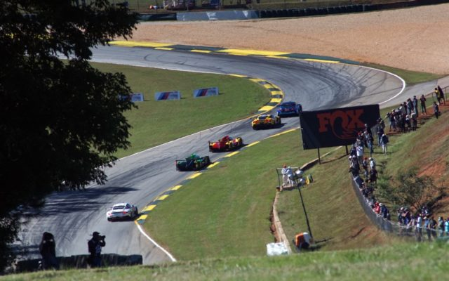 Race action in the esses.  [Photo by Jack Webster]