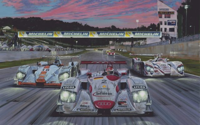 Petit Le Mans 2001.  [Artwork by Roger Warrick]