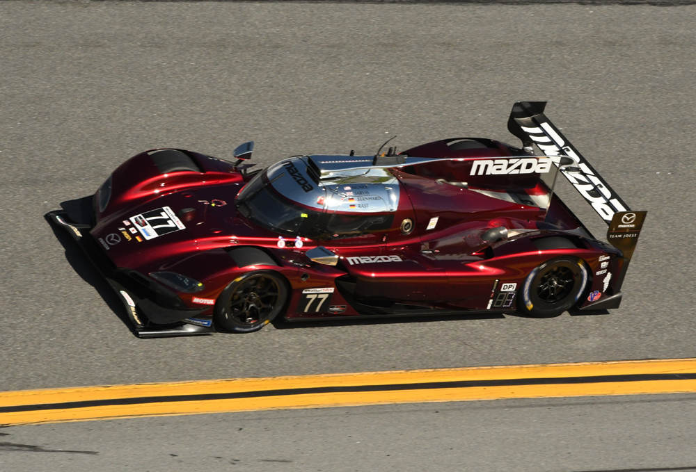 Fastest car in the field, the No. 77 Team Joest Mazda DPi. [Joe Jennings Photo]
