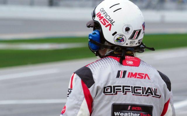IMSA Official on pit lane.  [Photo by Jack Webster]