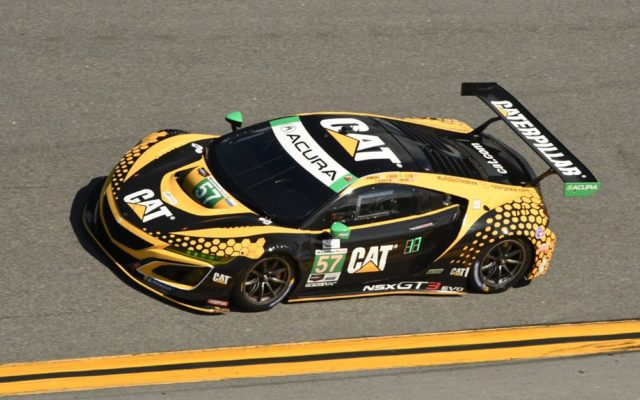 Heinricher Racing w/Meyer Shank Racing Acura NSX  GT3 in action.  [Joe Jennings Photo]