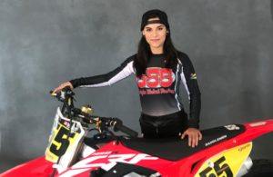 Sandriana Shipman will be riding for her own Triple Nickel Racing team. [Triple Nickel Racing photo]