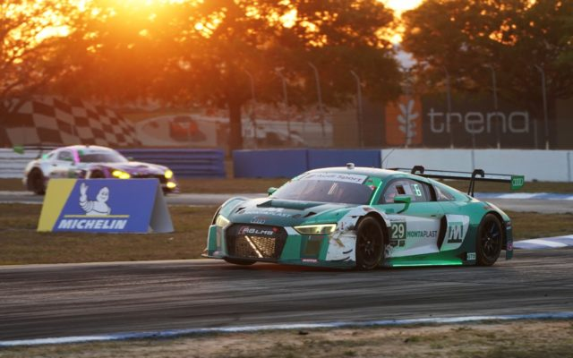 Audi action at sunset.  [Photo by Jack Webster]