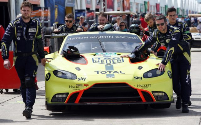 Aston Martin in FIA paddock.  [Photo by Jack Webster]