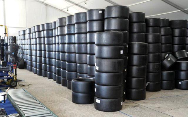 16,000+ tires at Sebring.  [Photo by Jack Webster]