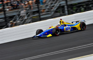 Alexander Rossi during the 103rd running of the Indianapolis 500. [John Wiedemann Photo]