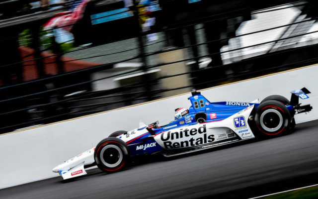 Graham Rahal at Indianapolis.  [John Wiedemann Photo]