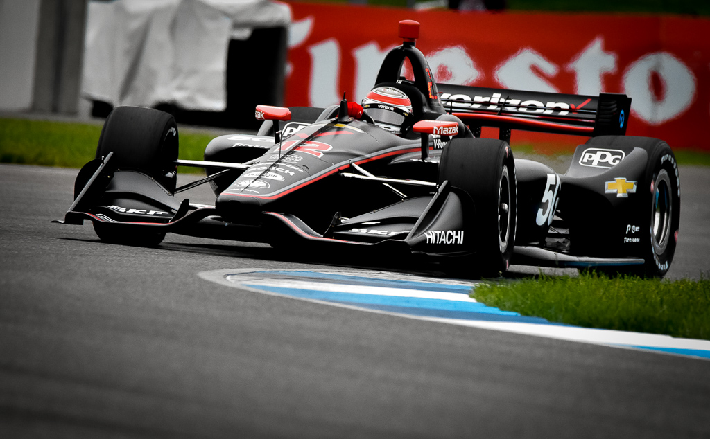 Will Power topped the chart in opening practice at the Indianapolis Motor Speedway for the IndyCar Grand Prix. [John Wiedemann Photo]