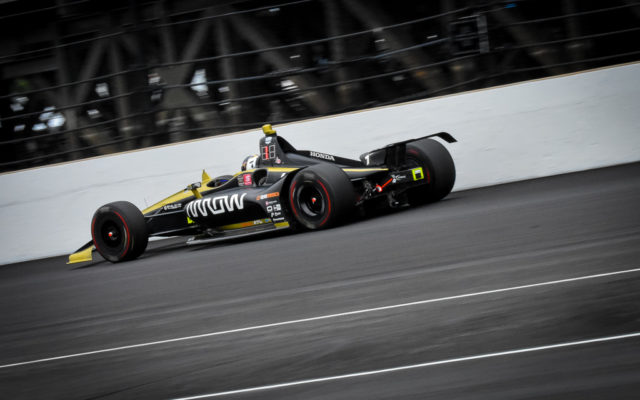 Rookie Marcus Ericsson in the Indianapolis 500.  [John Wiedemann Photo]