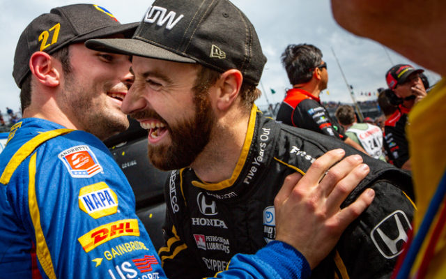 Alexander Rossi and James Hinchcliffe – Indianapolis Motor Speedway.  © [Andy Clary/ Spacesuit Media]