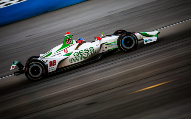 Colton Herta had a great race going at Texas Motor Speedway until he was spun while battling with Scott Dixon.  © [Andy Clary/ Spacesuit Media]