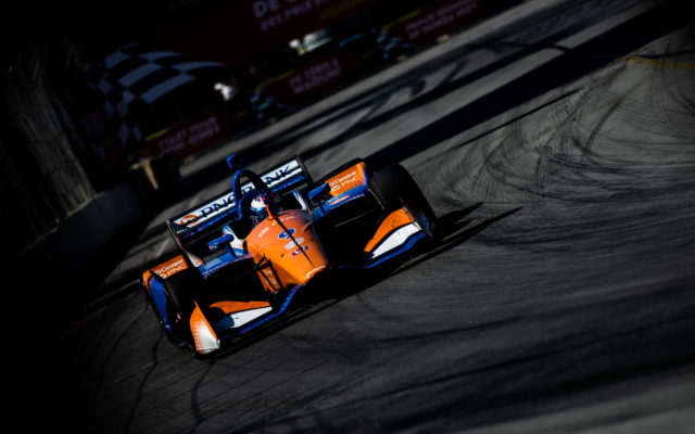 Scott Dixon on his way to a runner-up finish in the Honda Indy Toronto.  © [Andy Clary/ Spacesuit Media]