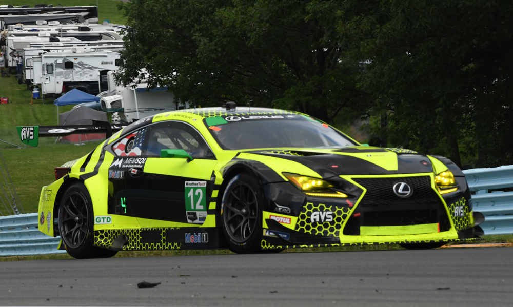 Lexus of Townsend Bell and company ascends Turn 7 at WGI. [Joe Jennings Photo]