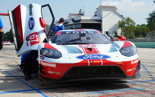Ford GT in the pits.  [Photo by Jack Webster]