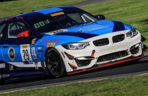 The No. 29 Fast Track Racing CLASSIC BMW BMW M4 team is just five points from the lead in SprintX East points. [photo courtesy TB Communications]