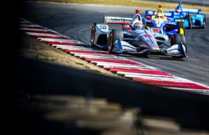 WIll Power leads Alexander Rossi on his way to winning in Portland. © [Andy Clary/ Spacesuit Media]