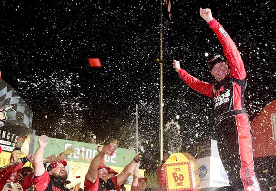 Erik Jones in Victory Lane at Darlington. (Photo by Jared C. Tilton/Getty Images)