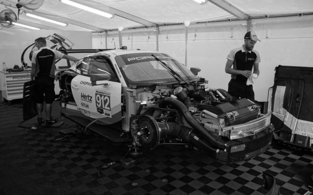 RSR being prepped at Road America.  [Photo by Jack Webster]
