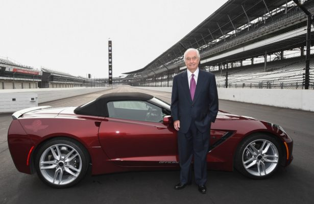 Roger Penske stands at the yard of bricks at the Indianapolis Motor Speedway. [Chris Owens Photo]