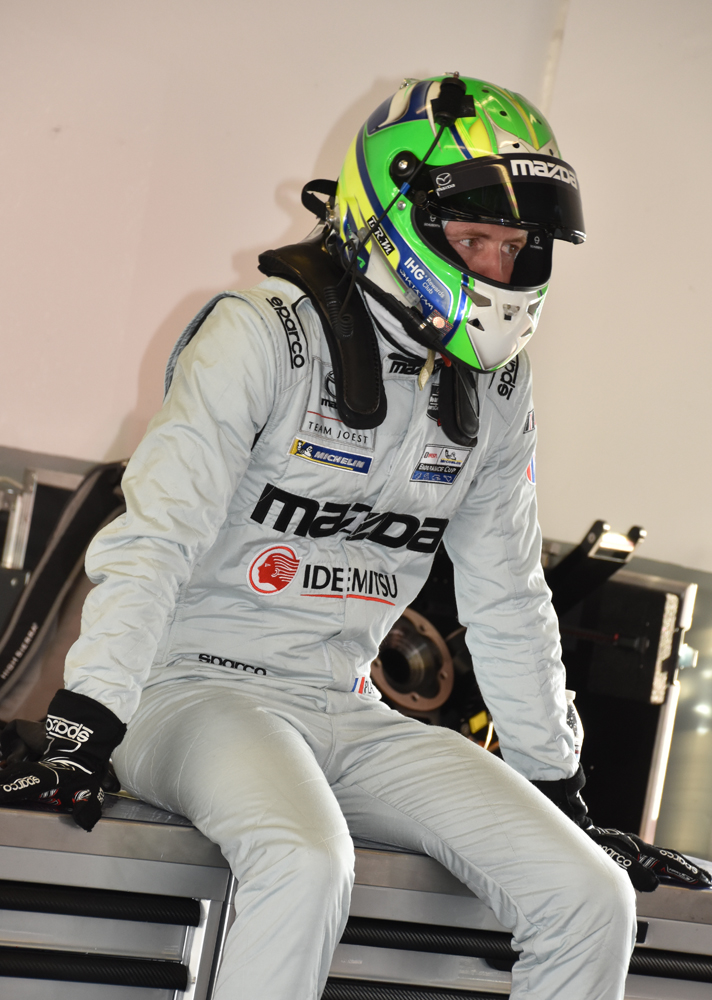 Olivier Pla - fastest Mazda Team Joest driver, set unofficial track record. [Joe Jennings Photo]