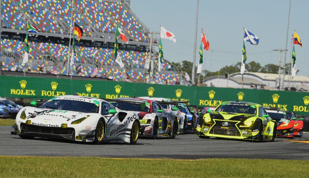 Early action in the Rolex24 at Daytona. [Joe Jennings Photo]