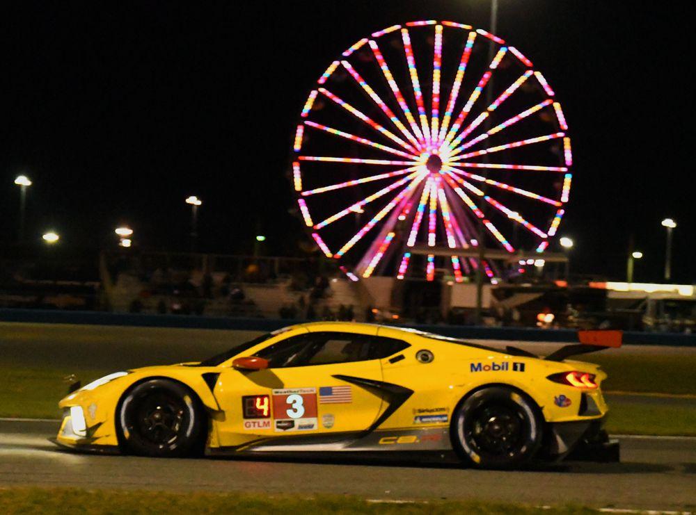 No. 3 Corvette shown in night-time action. [Joe Jennings Photo]