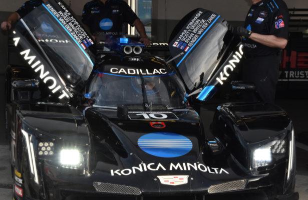 Crew shown preparing the Wayne Taylor Racing Cadillac. [Joe Jennings Photo]