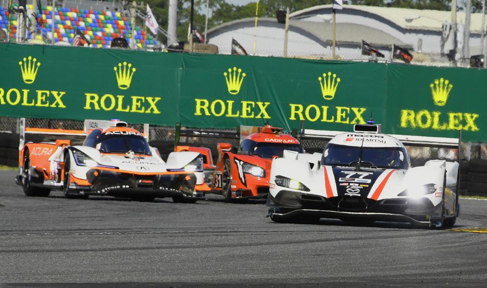 Mazda Team Joest #77 leads at start of race. [Joe Jennings Photo]