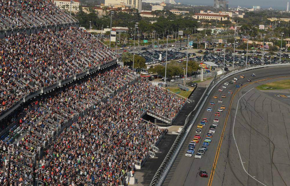 On a sunny Monday afternoon, a majority of fans returned to see the 62nd Daytona 500. [Joe Jennings Photo]