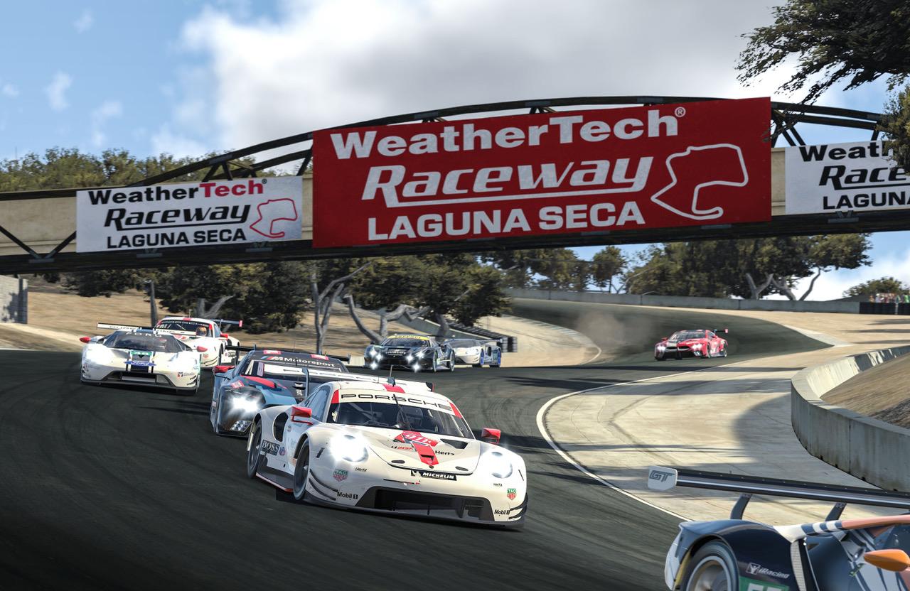 Racing action. [Porsche Motorsports Photo]