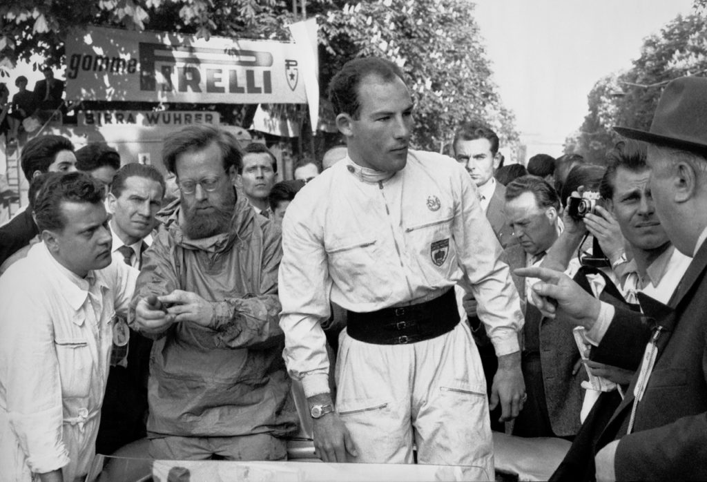 Stirling Moss and Denis Jenkinson, Mille Miglia 1955. [Daimler Media Photo]