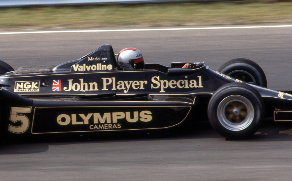 Mario Andretti in the JPS Lotus in 1978. [Photo by Jack Webster]