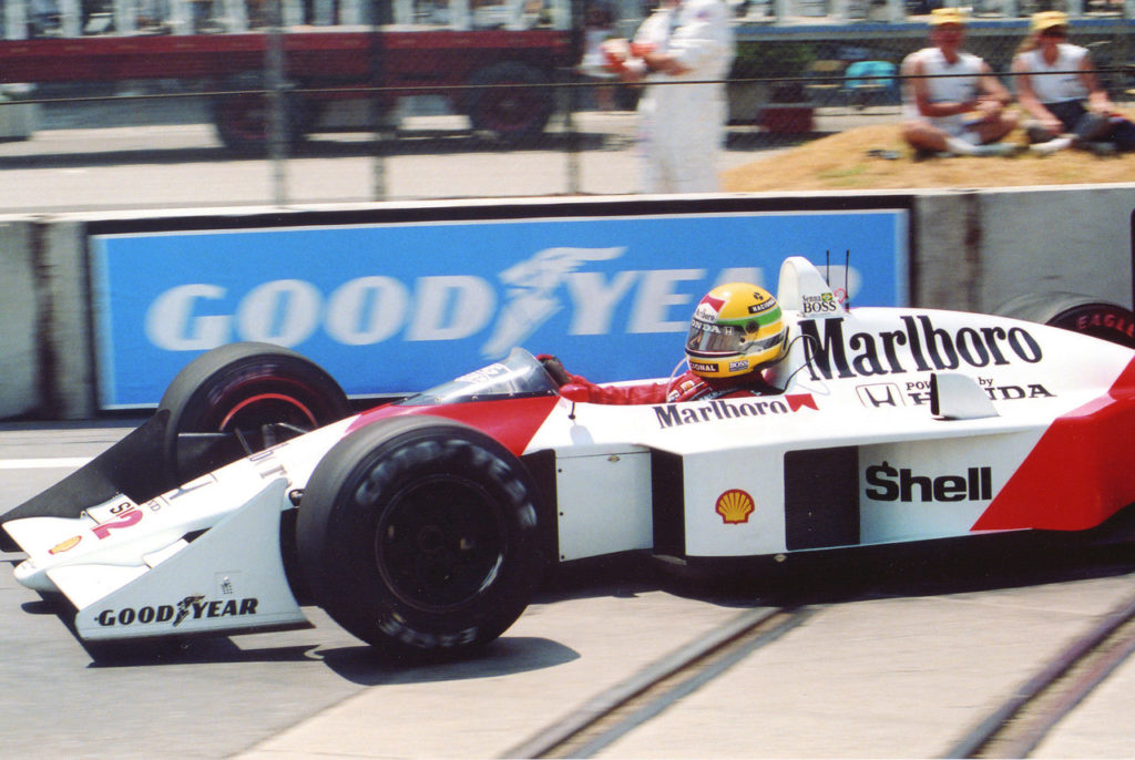 Ayrton Senna, Marlboro McLaren [Photo by Eddie LePine]