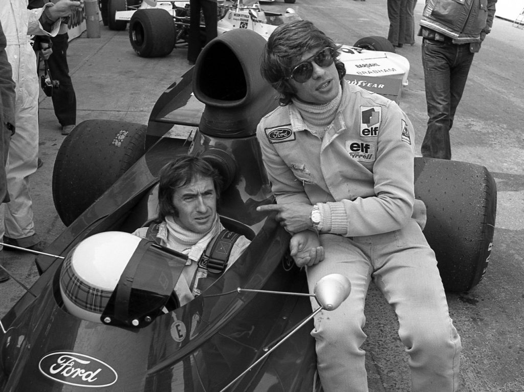 Jackie Stewart and Francois Cevert in 1973. [Photo by Jack Webster]