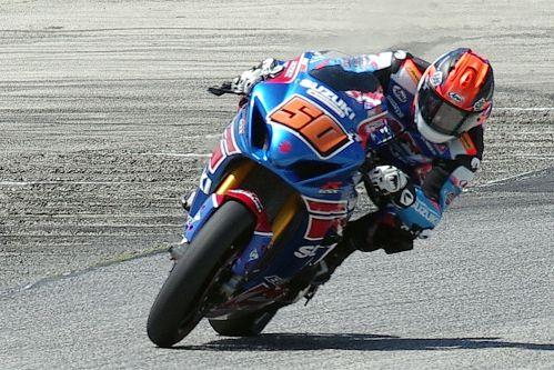 Moto America Super Bike Winner - #50 Bobby Fong. [Roy Schmidt photo]