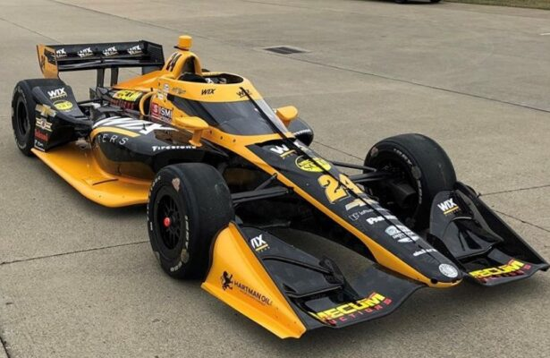 2020 DRR WIX Filters Road IndyCar. [photo courtesy Dreyer & Reinbold Racing]