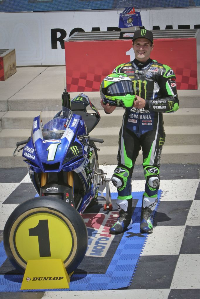 Cameron Beaubier winner Saturday and Sunday in Superbike (#1 Yamaha). [Jon Kanter Photo]