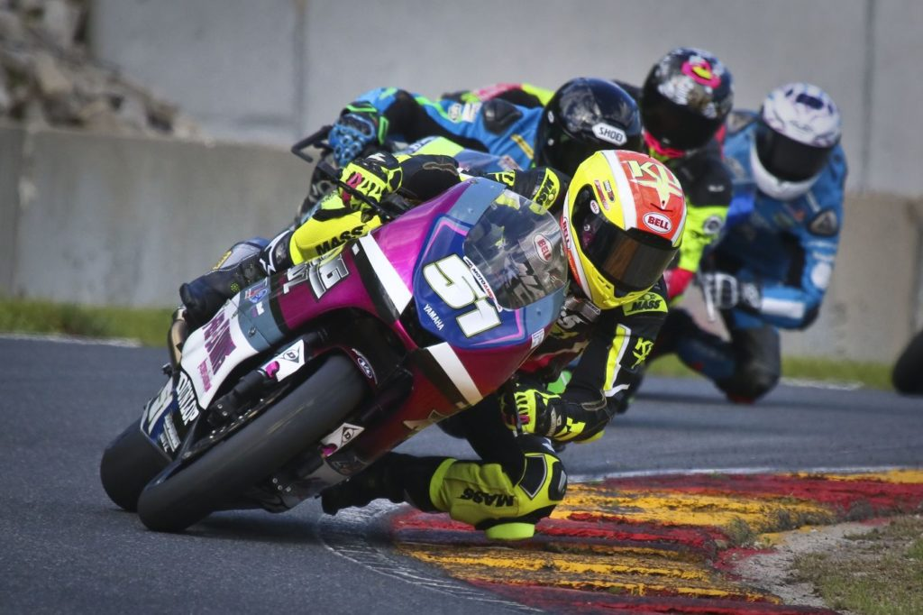 Kaleb De Keyrel winner Saturday and Sunday in the Twins Class (Yamaha #51). [Jon Kanter Photo]