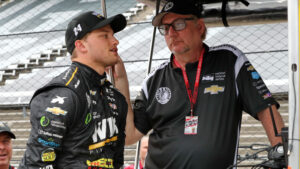 Sage Karam & Dennis Reinbold at Indy. [photo courtesy Dreyer & Reinbold Racing]