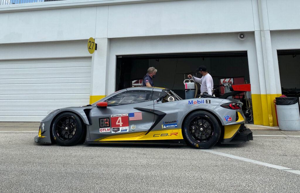 Socially distanced Daytona garage. [Photo by Eddie LePine]