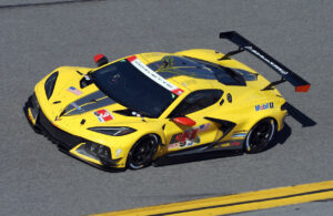 C8.R on the Daytona banking. [Photo by Jack Webster]